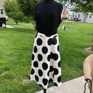 Lane Bryant Polka Dot Retro Skirt 16W